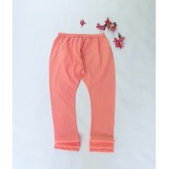 Two Feet Orange Elasticated-Waist Cotton Churidar